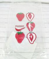 Vintage Strawberry Cutting Board Clear Plastic Handle Retro Woolworth Hong Kong