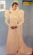 Butterick 3716 HISTORICAL VICTORIAN DRESS VEIL WEDDING 12-16 Sewing Pattern