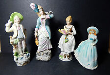 """Lady's Night Out"" Figurine Collection Unkown Makers 4- Colonial/Victriona Women"