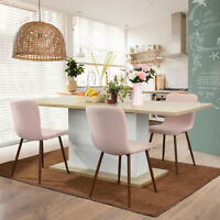 Adjustable 6 Seater Long Extendable Furniture Dining Meeting Wood Table Beech