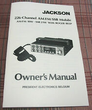President Jackson Export CB Radio Owners Manual