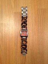 Stunnin Ladies Michael Kors Stainless Steel/Leopard Print Chain,Brown Face Watch