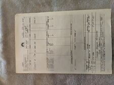 Star Trek The Motion Picture Call Sheets - Production Used Prop 1978