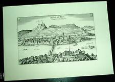 Stein am Rhein alte Ansicht Merian Stich Druck 1650 Städteansicht Schaffhausen