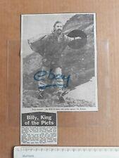 1982 BILLY CONNOLLY 9th Mar Newspaper Cutting