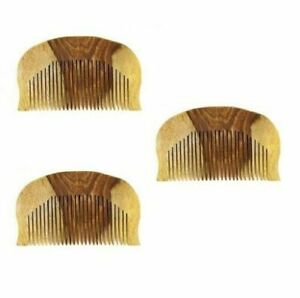 Sikh Kanga Hair Comb Wooden Hair Comb Wooden Kangha Wood Comb Pack of 3 Brown