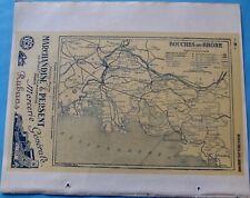 Atlas du Bottin 1946 Carte ancienne Géographie France Aveyron & Bouches du Rhône
