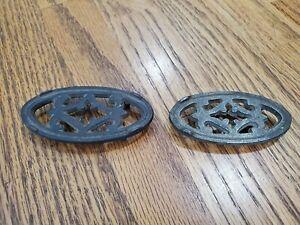 Two Antique Miniature Cast Iron Trivets