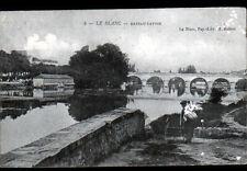 LE BLANC (36) BATEAU - LAVOIR , BLANCHISSEUR & LAVANDIERE avant 1904