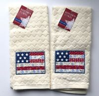 Dish Towels American Flag Set of 2 Summer Beach House BBQ 4th Of July