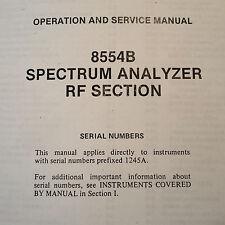 HP Hewlett Packard 8554B Spectrum Analyzer Operator & Service Manual