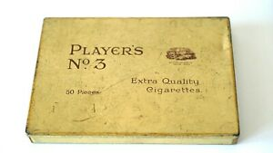 Vintage John Player`s No.3 No:22979 Cigarettes Tin Box Metal Used Collectable