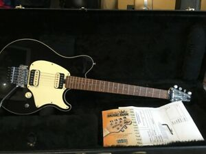 Music Man Axis Black HH with Rosewood Neck. Locking Trem