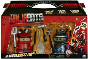 Ninja Bots Hilarious Battling Robots with 6 Weapons 2-Pack 100+ Sounds & Moves