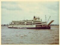 Vintage Old Color 1971 Photo of Tourist Ferry Boat on Lake Erie Great Lakes