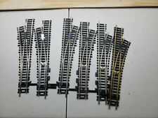 Lot of 6 HO Scale Atlas 2 Left & 4 Right Hand Turnouts Used look got lots More!!
