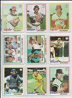 Lot of 17 ~ 1978 Topps Baseball Singles ~ Assorted #'s 78-655 ~ Carlton, Fingers