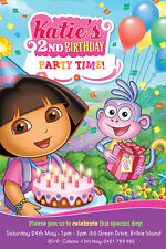 Dora the Explorer Girl's Birthday Invitations -We Print or Print Yourself