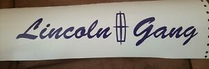 Lincoln gang decals