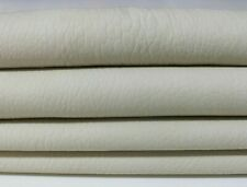 UNDYED CHROME DYE GRAINY OFF WHITE Italian Lambskin leather 2 skins 10sqf 1.1mm