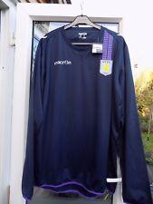 Homme XXL Macron Aston Villa Brillant Haut Jersey Pull Bleu Marine Rrp 39.99 tour de poitrine 54 in (environ 137.16 cm)