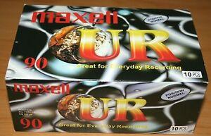 10 x MAXELL UR 90 NORMAL POSITION TYPE I BLANK AUDIO CASSETTE TAPE