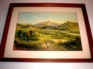 View of Salzburg from Plainberg 1881 by J Mayburger Framed Print 45.5x34.25cm