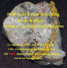 CD - NSW Gold Outback-Macleay Valley Region 20 eBooks - 59 FREE Fossicking Maps