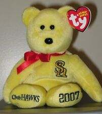 Ty Beanie Baby - SOFTBANK HAWKS the Bear (Club Hawks Japan Exclusive) NEW MWMT's