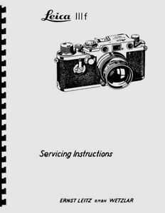 Leica IIIf Camera Service & Repair Manual Reprint