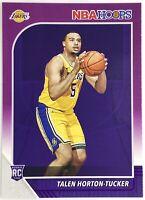 2019-2020 Panini NBA Hoops Talen Horton Tucker Purple Parallel SP Rookie Card RC