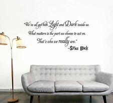 LARGE Sirius Black Light And Dark Quote Harry Potter Movie Wall Art Vinyl Decal