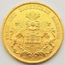 20 Mark Gold - Hansestadt Hamburg - 1900 J - 7,18 gr. Feingold