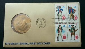 [SJ] USA Bicentenary 1975 United States FDC (coin cover)
