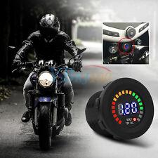LED Display DC 12V Car Boat Motorcycle Gauge Panel Voltmeter Battery Monitor SG