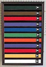 Martial Art Karate/Taekwondo Belt Display Case Shadow Box Wall Rack Cabinet