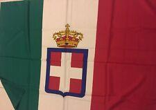 Bandiera, Savoia-Regno d'Italia- sabauda, In poliestere cm. 100x140
