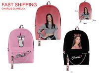 Charli Damelio Zaino Backpack school  for Boys Girls Kpop Keychain tiktok