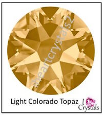 LIGHT COLORADO TOPAZ 144 pcs 7ss 2mm Swarovski Crystal Flatback Rhinestones 2058