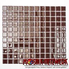 Mosaik Fliesen braun Glas Bad WC Küche Dusche Fliesenspiegel Art:60-1308 | 1qm