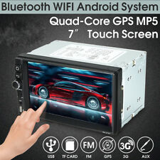 "Android Bluetooth Car Stereo Radio Auto Double 2 DIN 7"" MP5 Player GPS Wifi"