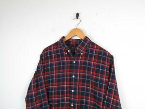 Mens Ralph Lauren Button Up Long Sleeve Shirt Flannel Lumberjack Check L Custom