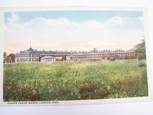 Seager Engine Works Lansing Michigan Postcard. Not Posted  Very Good Condition