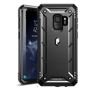 Samsung Galaxy S9 Plus Case Poetic Shockproof Cover With Screen Protector Black