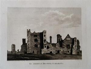 BECTIVE ABBEY, RIVER BOYNE, CO. MEATH, IRELAND, 2 x Fine Antique Engravings 1794