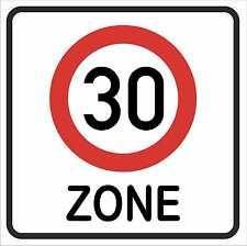 """HAMMERPREIS: Geburtstagsschild """"Zone 30"""" wetterfest, Party- Dekoschild, 40x40cm!"""
