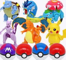 Deformation Pokeball Action Figure Toys Transform Pikachu Charizard Mewtwo