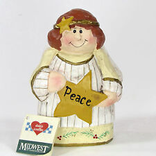 "Midwest of Cannon Falls PEACE ANGEL 4.5"" Figurine Eddie Walker Christmas Star"