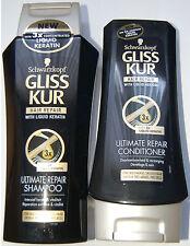Schwarzkopf Gliss Kur Ultimate Hair Repair Liquid Keratin Shampoo + Conditioner