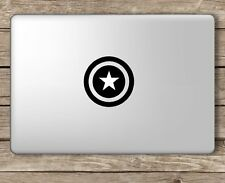 Captain America Shield  Macbook Laptop Decal Mac Pro Air Retina 11 13 15 17""
